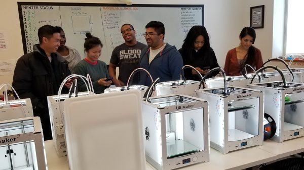Health Makers at the Illinois Maker Lab, part of the Health Maker Lab at Carle Illinois College of Medicine