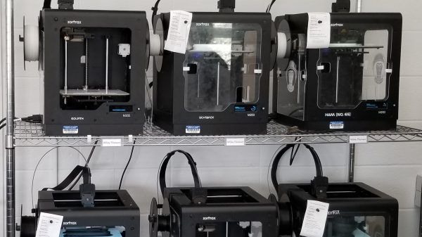 3D Printers at the Art and Design Lab, part of the Health Maker Lab at Carle Illinois College of Medicine
