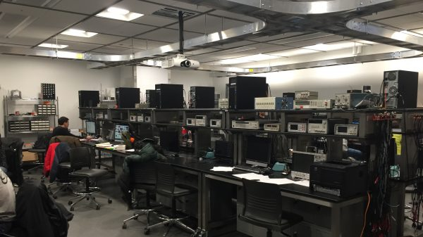 Equipment at the Electronic Design Innovation Lab, part of the Health Maker Lab at Carle Illinois College of Medicine