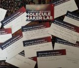 Molecule Maker Lab cards with citizens' ideas for making at Carle Illinois College of Medicine