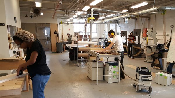 Health Makers at the Architecture Fabrication Studio, part of the Health Maker Lab at Carle Illinois College of Medicine