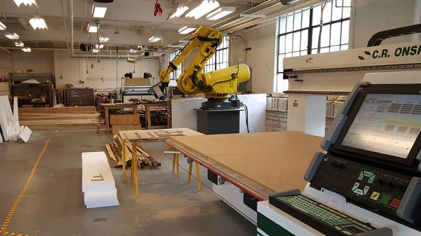 Equipment at the Architecture Fabrication Studio, part of the Health Maker Lab at Carle Illinois College of Medicine