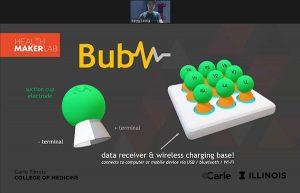 Wireless EKG called BUBZ